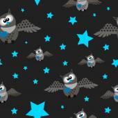 Owls pattern — Stock Vector