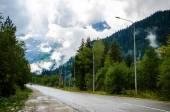 Road to Dombai — Stock Photo