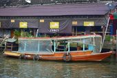 Drijvende markt in amphawa — Stockfoto