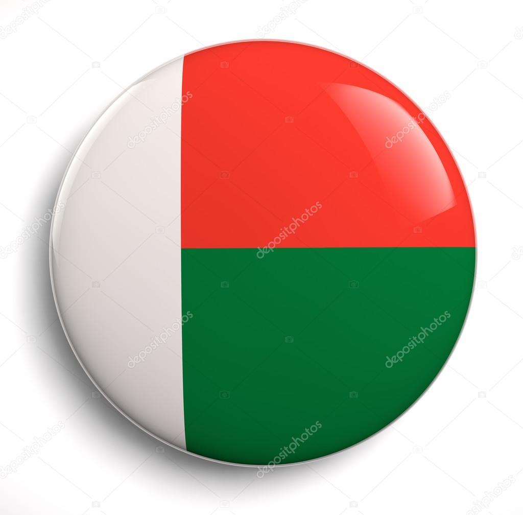 马达加斯加国旗图标.剪切路径包括– 图库图片