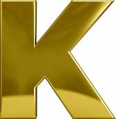 Gold Metal Letter K — Stock Photo