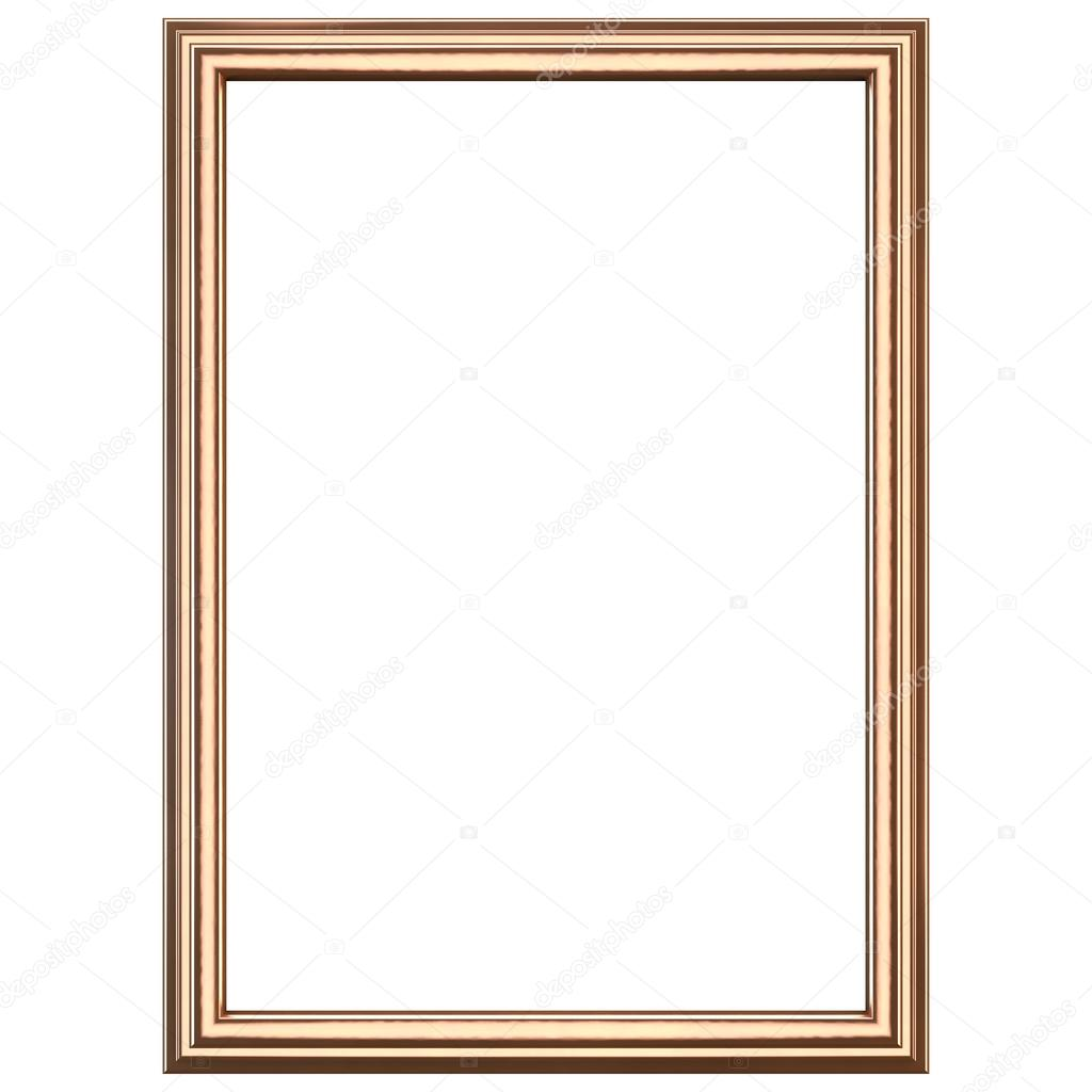 copper wooden frame isolated on white clipping path included photo by somartin