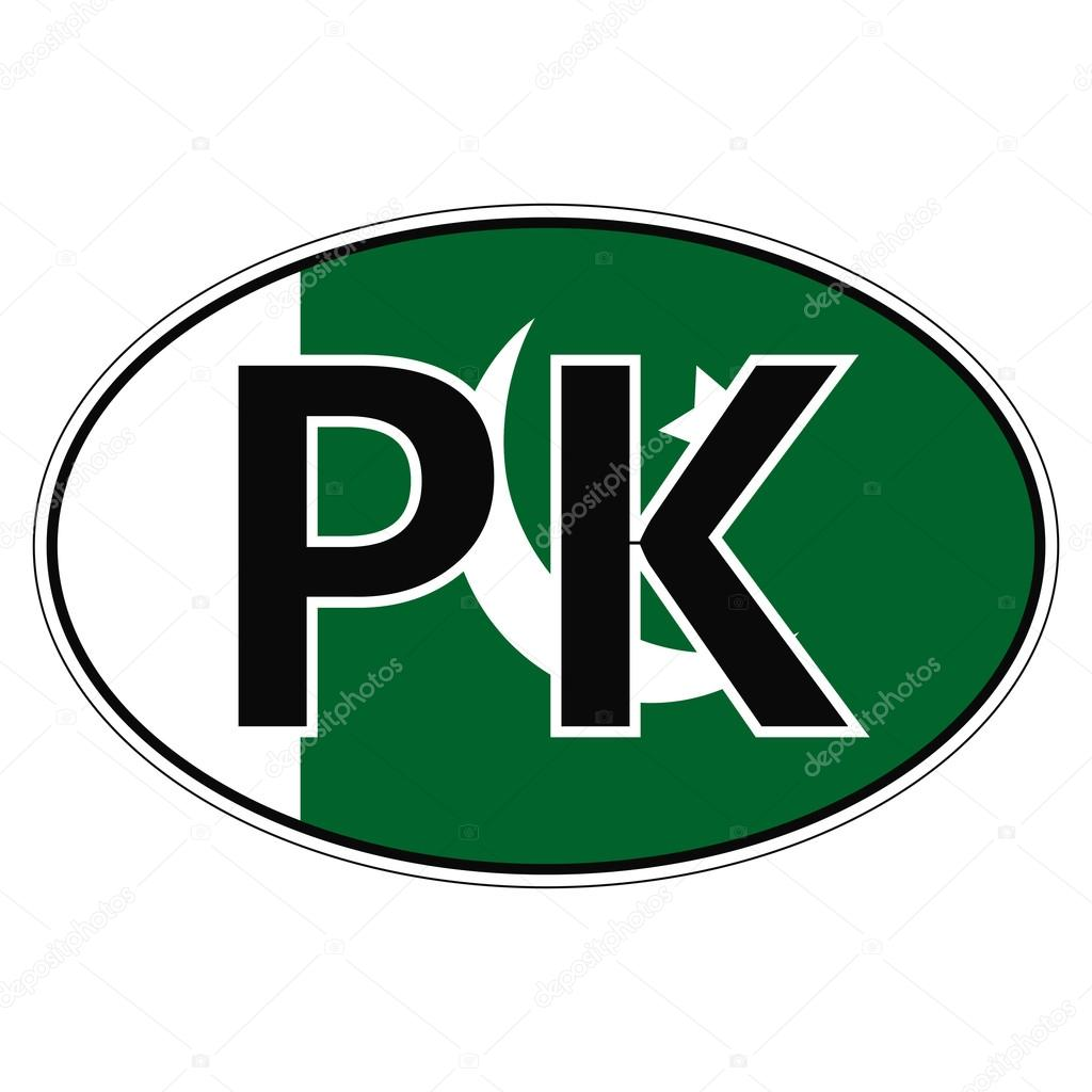 Car sticker design download - Sticker On Car Flag Islamic Republic Of Pakistan With The Inscription Pk Vector For Print Or Website Design For Language Buttons Vector By Koksikoks