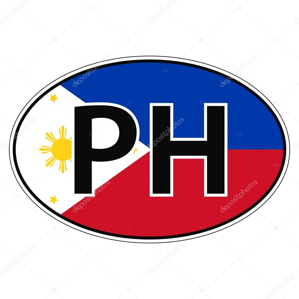 Car sticker design philippines - Sticker On Car Flag Republic Of The Philippines With The Inscription Ph Vector For Print Or Website Design For Language Buttons Vector By Koksikoks