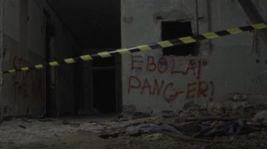 Ebola Danger! Disinfaction Of A Building — Stock Video