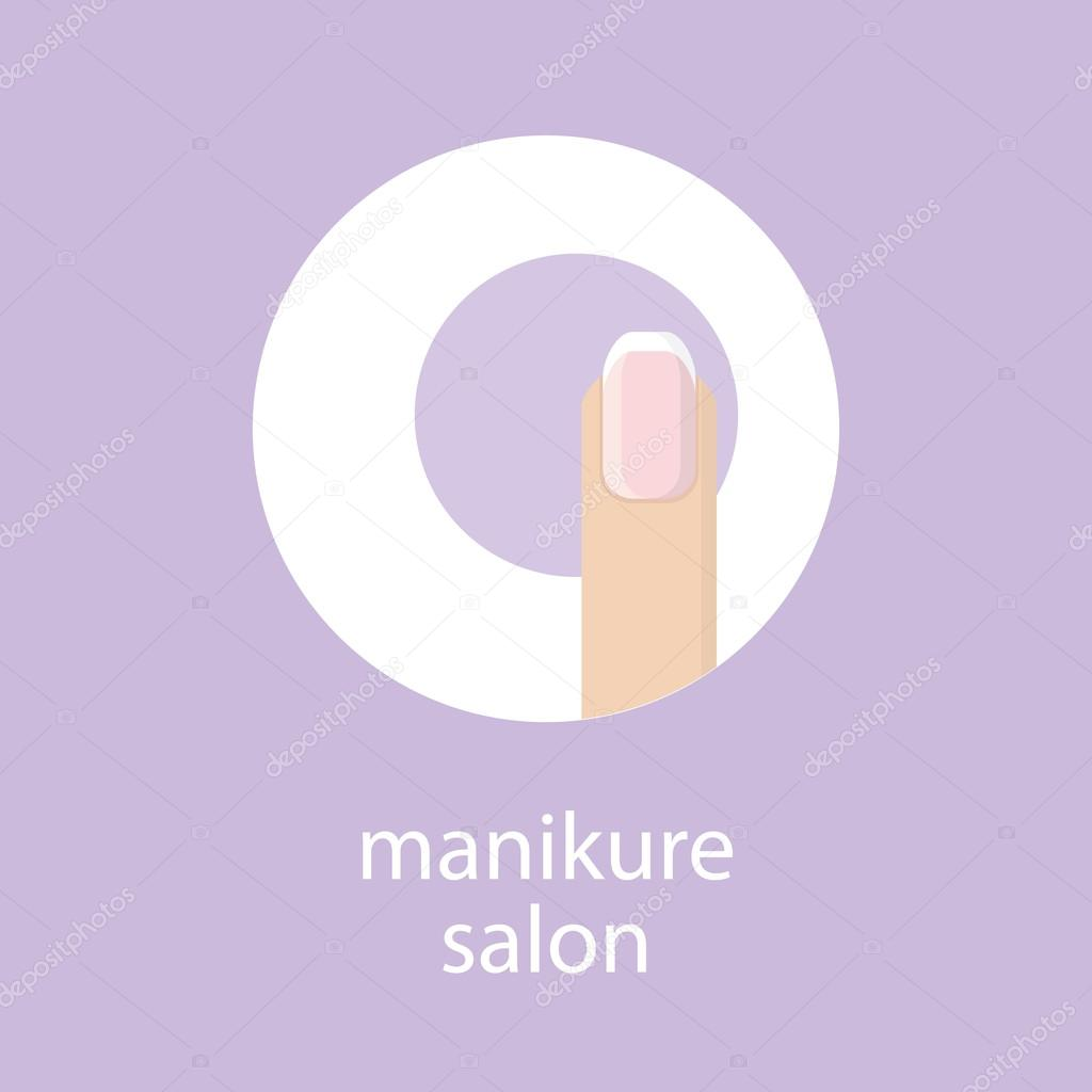 Manicure salon banner emblem or logo of your nail salon for 33 fingers salon
