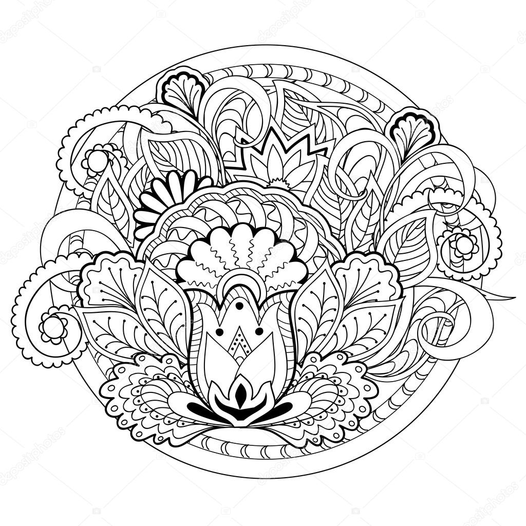 Paisley Pattern Fox Coloring Pages