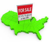 United States For Sale — Stock Photo