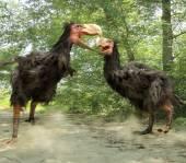Gastornis Fighting (Terror Birds) — Stock Photo