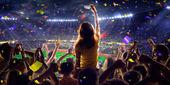 Болельщики на стадионе игра Панорама — Стоковое фото