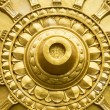 Gold lotus background buddha in a temple — Stock Photo #80064422