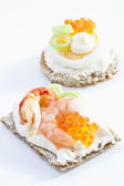 Caviar appetizer, elevated view — Stock Photo