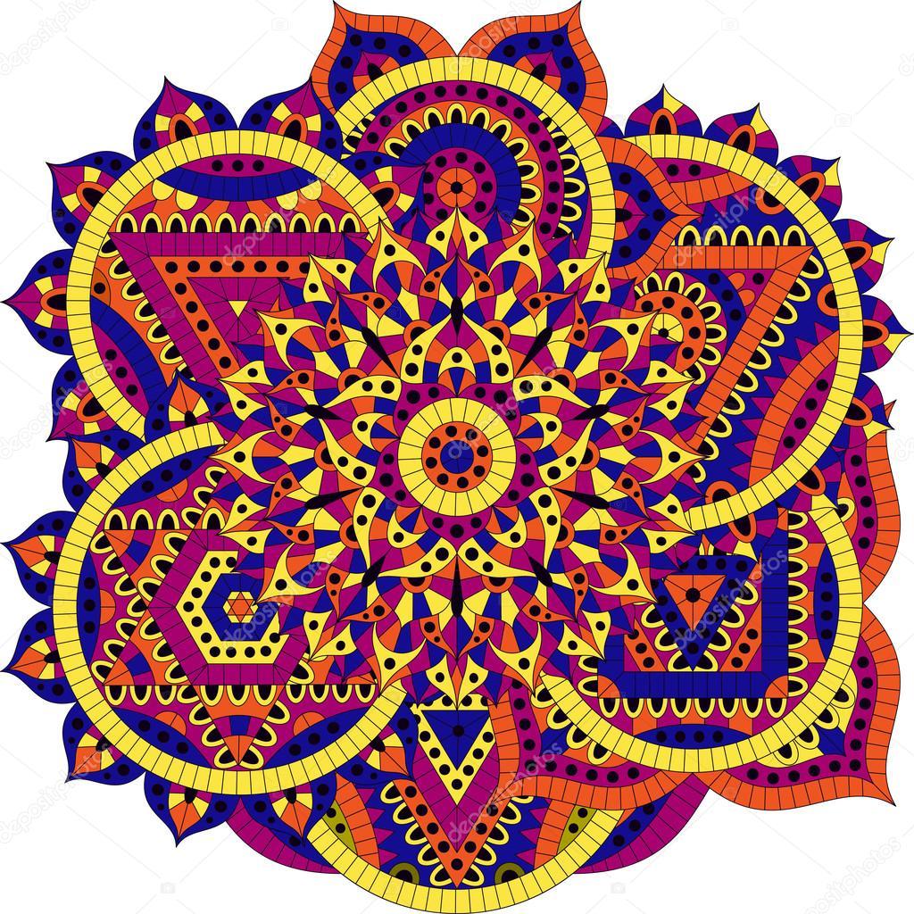 runde muster mit sieben chakren orientalische ornamente f r banner karten und f r ihr design. Black Bedroom Furniture Sets. Home Design Ideas