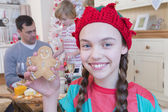 Girl dressed as elf at Christmas Time. — Stock Photo
