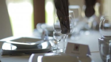 Shoot of an elegant tableware. — Stock Video