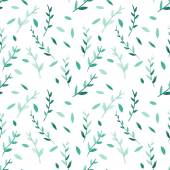 Seamless pattern with watercolor leaves — Stock Vector