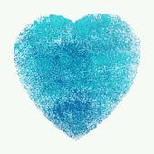 Ακουαρέλα μπλε καρδιά, στοιχείο του διανύσματος για το σχέδιό σας — Διανυσματικό Αρχείο