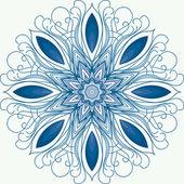 Mandala. Un adorno circular, patrón. copo de nieve — Vector de stock