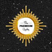 Premium quality gold label — ストックベクタ