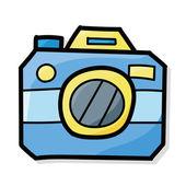 Camera color doodle — Stock Vector
