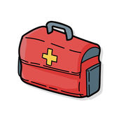 First aid kit doodle — Stock Vector