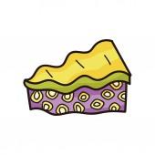 Cake doodle — Stock Vector