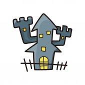 Призрак дома каракули — Cтоковый вектор