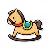 Toy horse doodle — Stock Vector