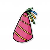Party hat doodle — Stock Vector