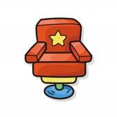 Sofa doodle — Stock Vector