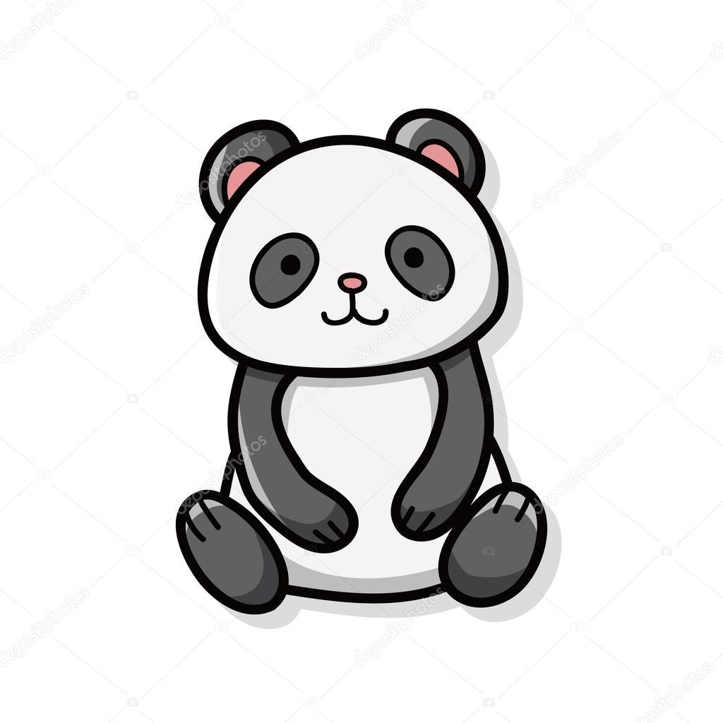 Животные панда рисунок