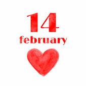 14 February  background. — Stock Vector