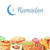 Islamic bakery background — Stock Vector