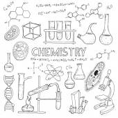Insieme di apparecchiature chimiche. — Vettoriale Stock