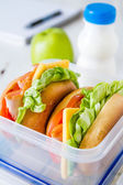 Lunch box - sandwiches — Stock Photo