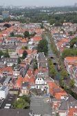 Delft. View from the clock tower. — Stock Photo