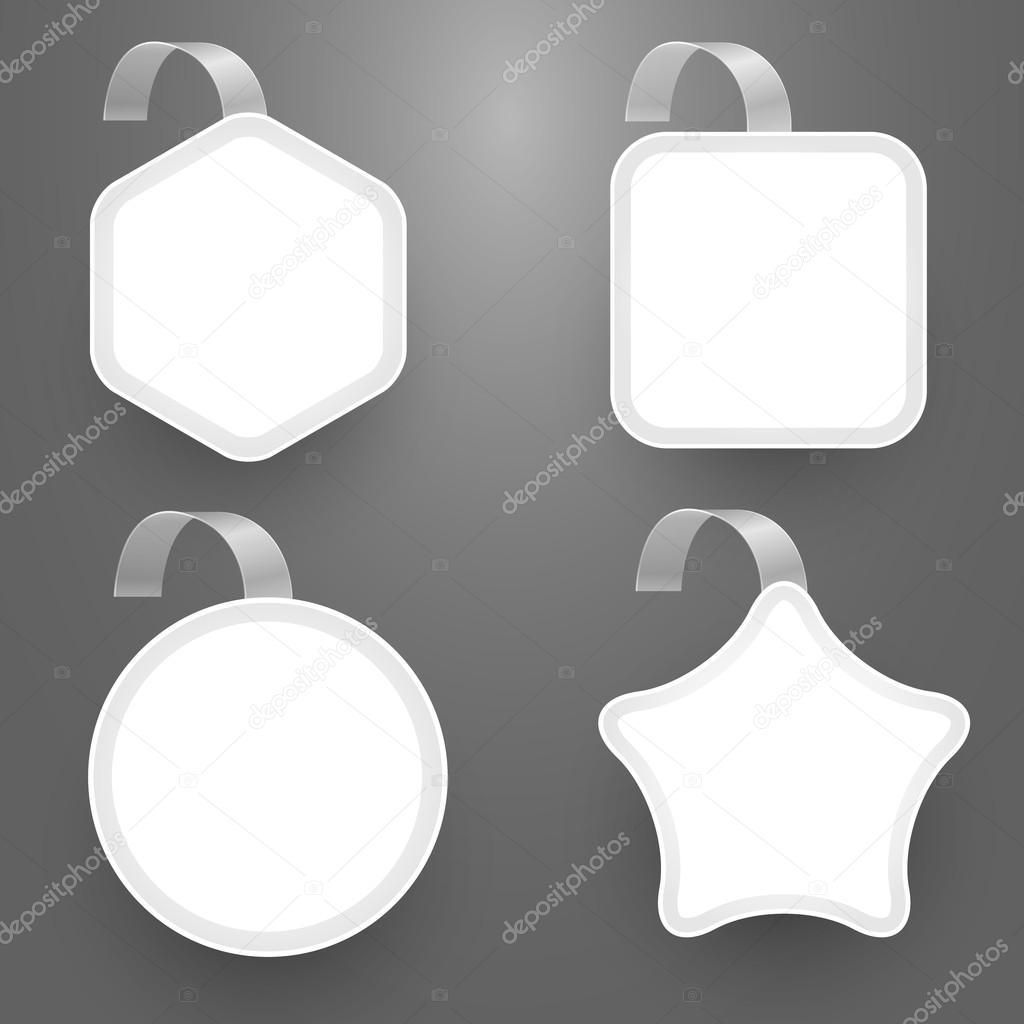... Set with wobbler design templates — Stock Illustration #123597510