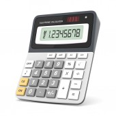 Современный офис калькулятор — Стоковое фото