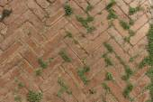Texture of walkway, red bricks walkway — Stock Photo