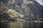 Beautiful view of of Zell am See with Zeller Lake, Salzburger Land, Austria — Stok fotoğraf