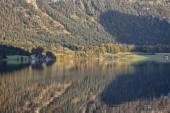Hallstatt lake, Salzkammergut area, Austria — Stock Photo