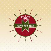 Happy new year,Happy Holiday Badge vector — Stock Vector