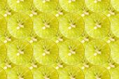 Plasterki cytryny rama tekstura tło. — Zdjęcie stockowe