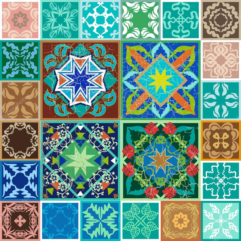 Spanish ceramic tiles stock vector svetlanakononova for Spanish clay tile