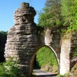 Ancient stone gate — Stock Photo #80413638