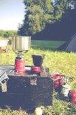 Campingutrustning — Stockfoto