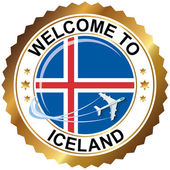 Welcome to Iceland — Stock Vector