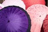 Close up Japanese umbrella made by paperwork — Stock Photo