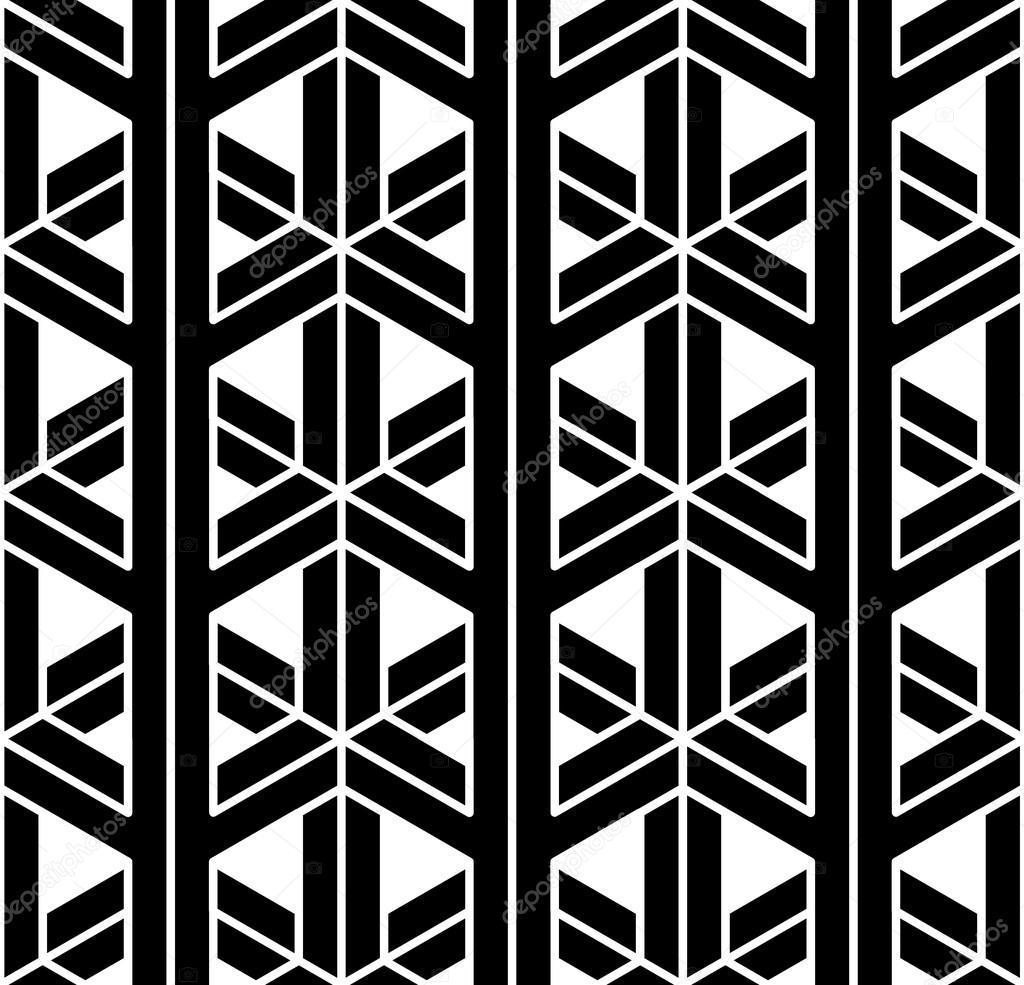 Moderna geometr a sagrada sin fisuras patr n 3d blanco y for Imagenes de cuadros abstractos en blanco y negro