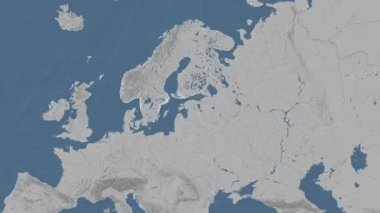 Estonia outlined and glowed. Neighbourhood. Elevation — Stock Video